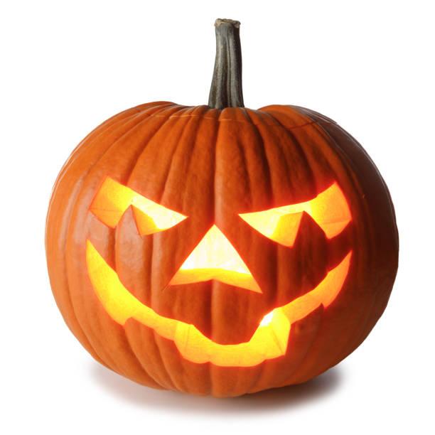 白のハロウィーンカボチャ - halloween ストックフォトと画像