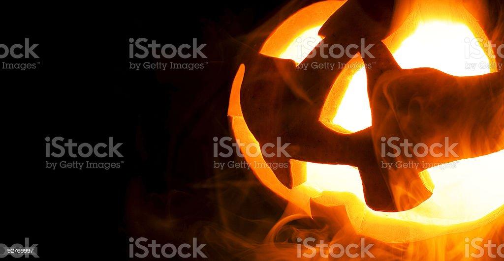 halloween calabaza, espacio para texto - foto de stock
