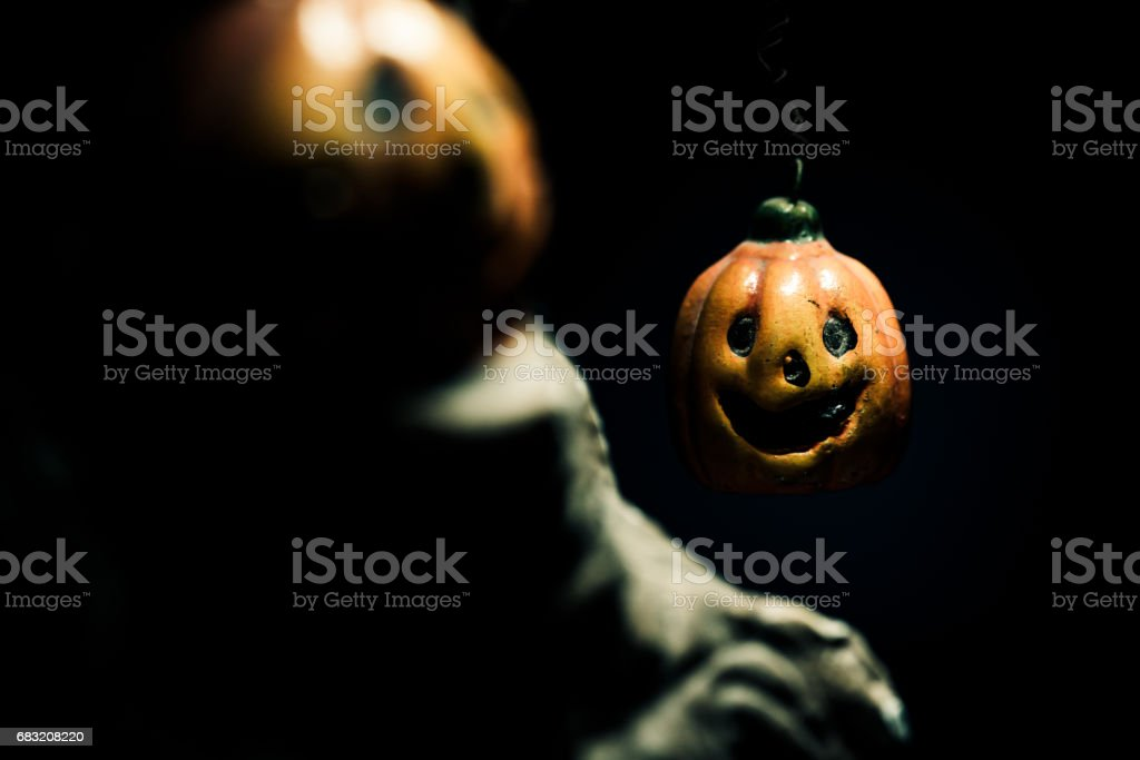 Halloween-Kürbis, Süßes oder Saures Partei Lizenzfreies stock-foto