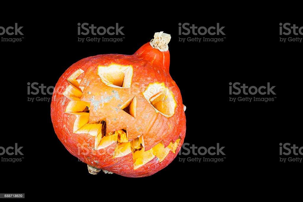 Halloween Kürbis mit schwarzem Hintergrund Lizenzfreies stock-foto