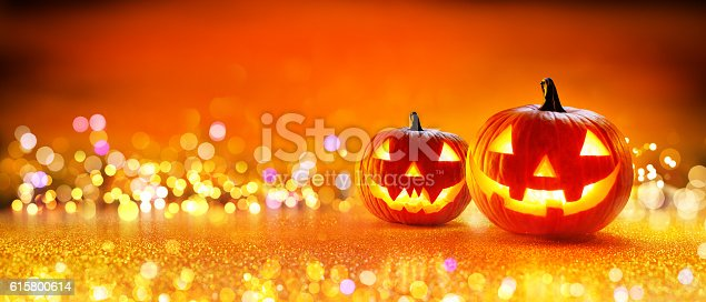 istock Halloween Pumpkin With Lights 615800614