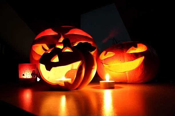 halloween Dynia i świec – zdjęcie