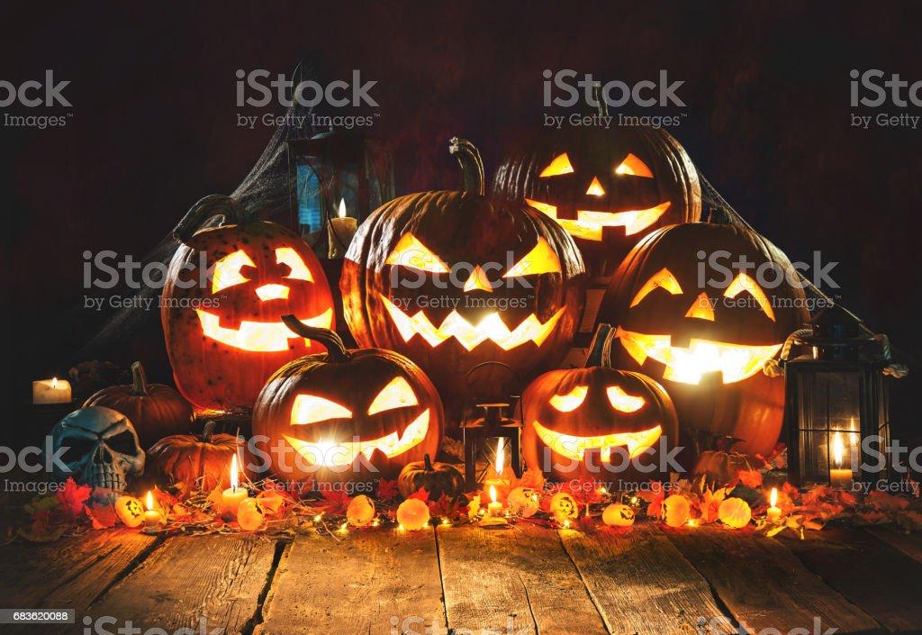 Halloween pumpkins - foto de stock