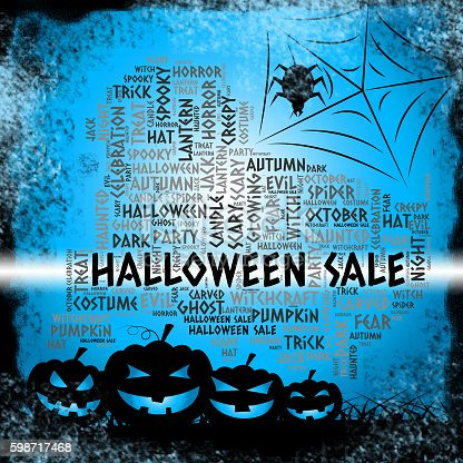 Halloween Sale Representing Trick Or Treat And Clearance Reduction
