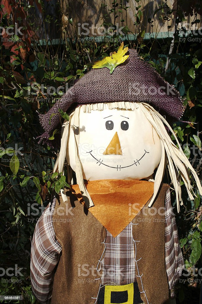 Halloween Scarecrow Decoration royalty-free stock photo
