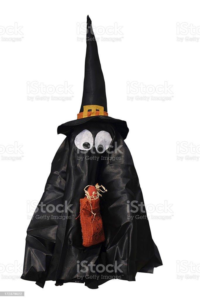 Halloween scarecrow isolated on white background royalty-free stock photo