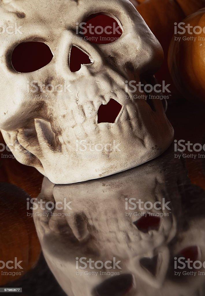 Halloween skull royalty-free stock photo