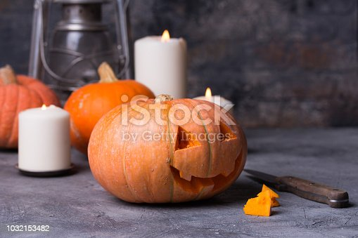 483328044 istock photo Halloween still life background with copy space 1032153482