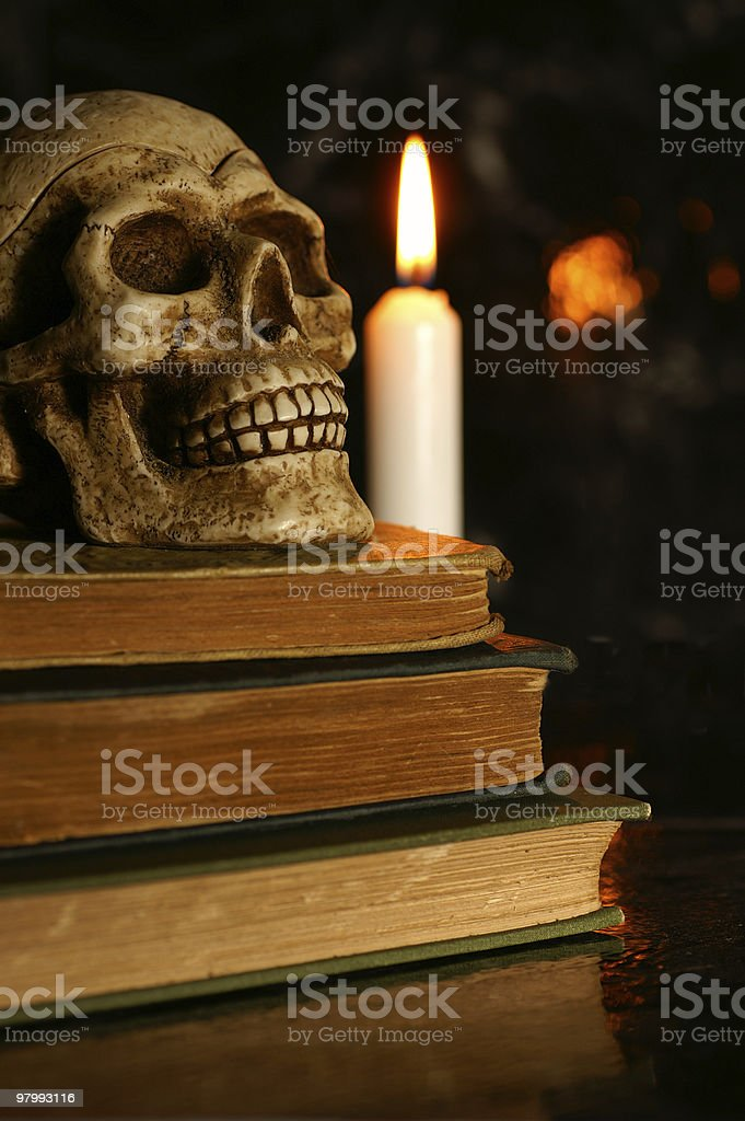 Halloween studies royalty-free stock photo