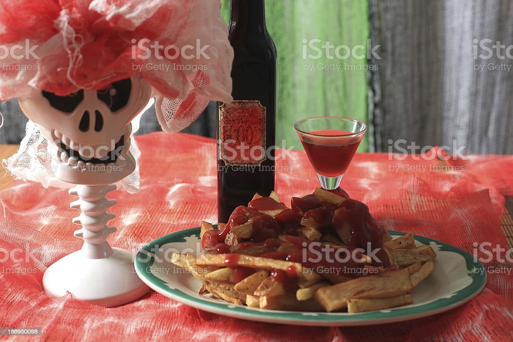 Halloween supper - Royalty-free Blood Stock Photo