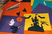 istock Halloween symbols cut out of paper 612849454