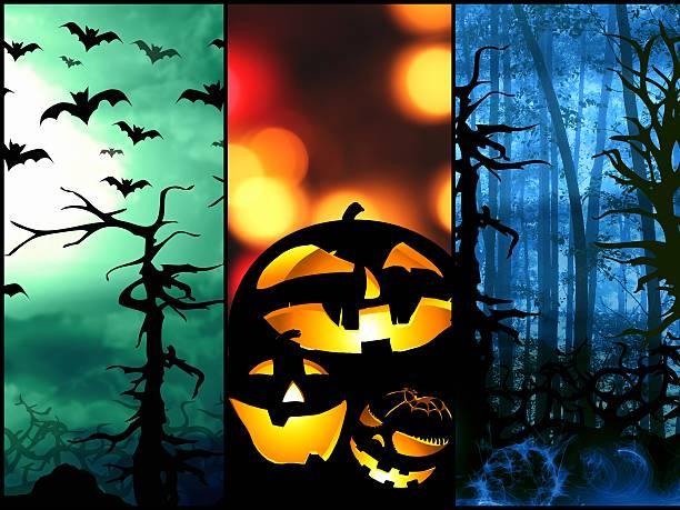 halloween Dynia bats Las tło Symbole – zdjęcie