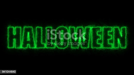 istock Halloween text, 3d rendering backdrop, computer generating, can be used for holidays festive design 941044640