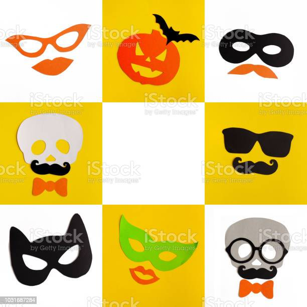 Halloween the masks from paper on a white background picture id1031687284?b=1&k=6&m=1031687284&s=612x612&h=ey5ovedgoc5rqowrwdghqrzkmmf9qpw8kkc4frj amq=