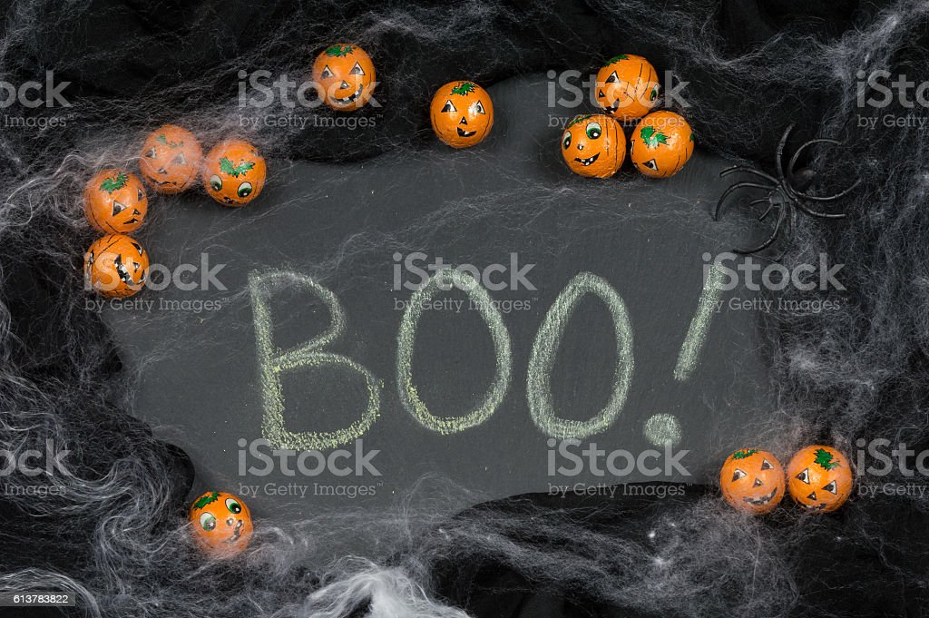 Halloween Theme Framing The Word Boo stock photo | iStock