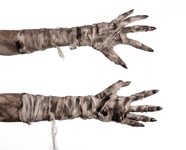 Halloween theme terrible old mummy hands on a white background picture id928464806?b=1&k=6&m=928464806&s=612x612&w=0&h=setagykpi5djranzqyvp71jn2ieeujfzigkigntdvh8=