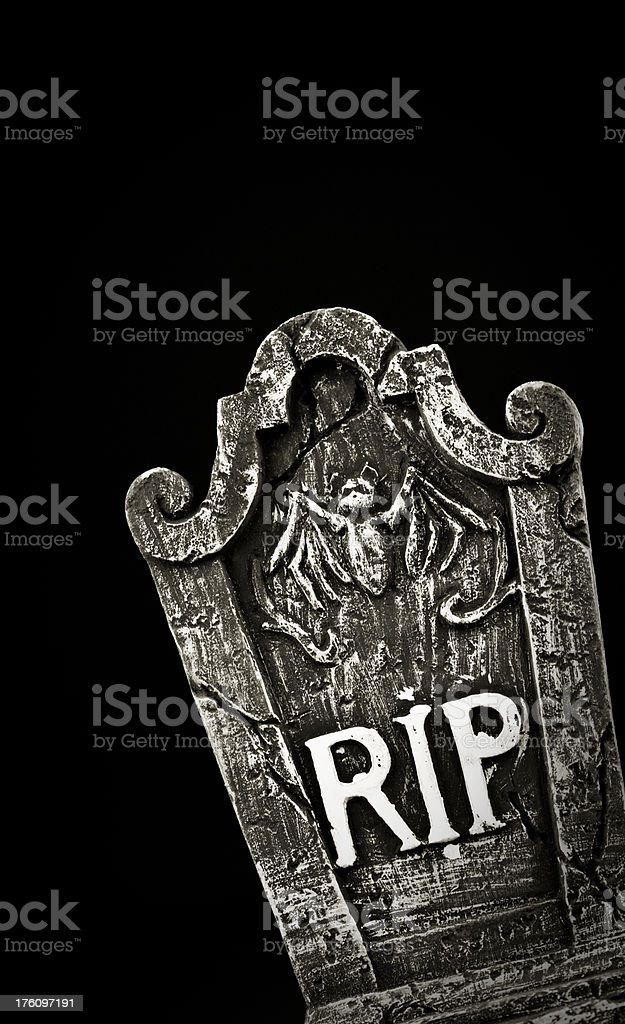 Halloween Tombstone stock photo