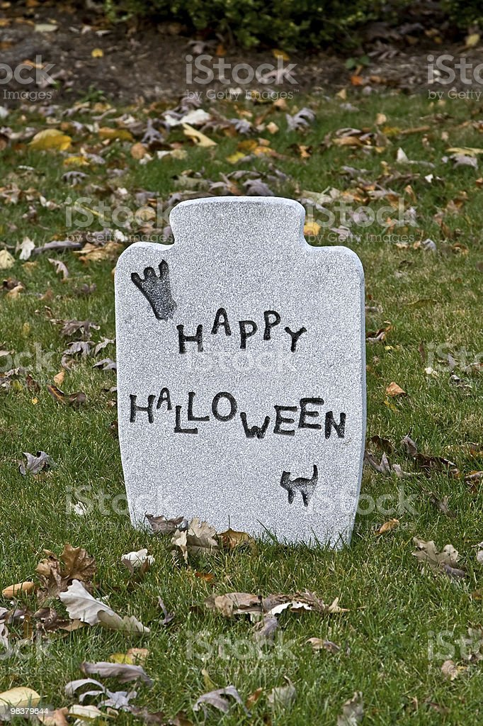Halloween tombstone royalty-free stock photo