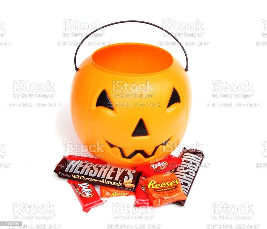Halloween Trick or Treat candies stock photo