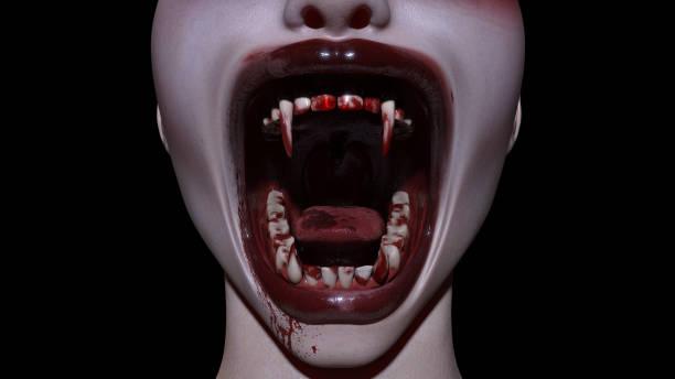 Halloween vampier mond foto