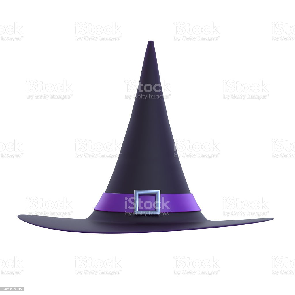 Halloween Witch Hat 3D stock photo
