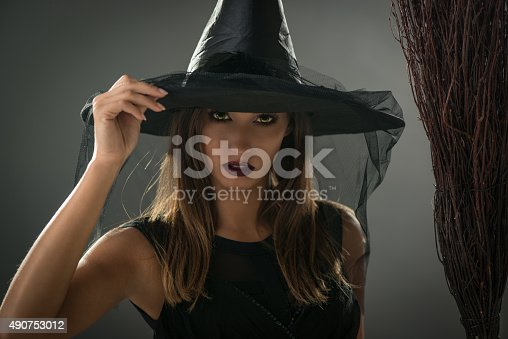 istock Halloween Witch 490753012