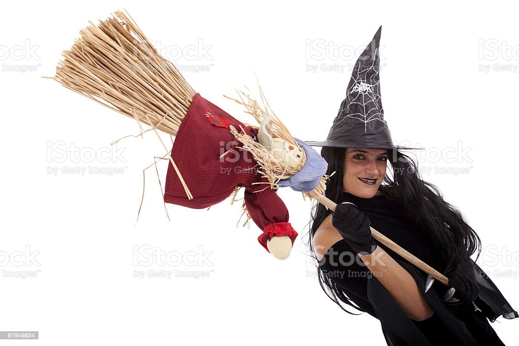Halloween witch royalty-free stock photo