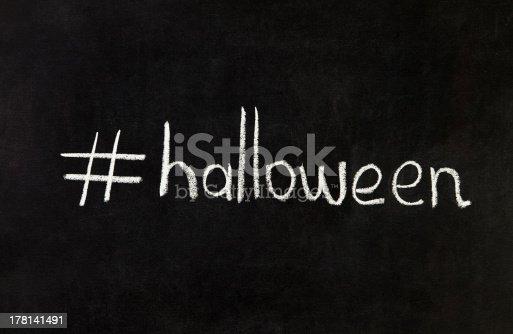 istock Halloween with Hashtag 178141491