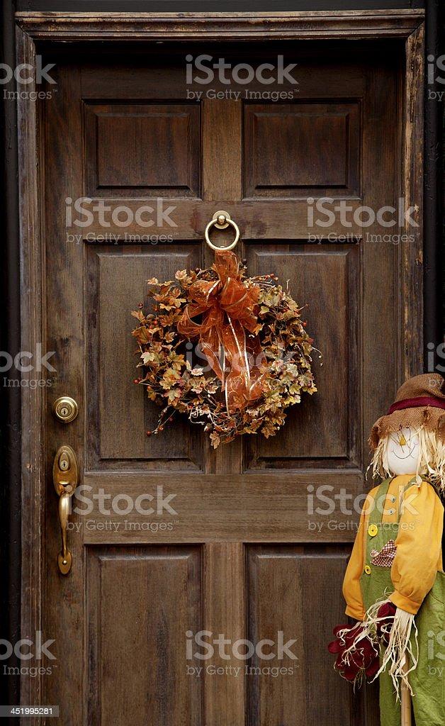 Halloween wreath stock photo