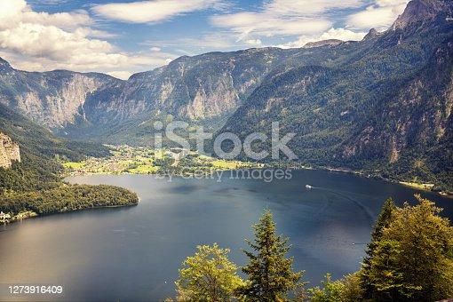 istock Hallstatt is a village on Lake Hallstatt's western shore in Austria's mountainous Salzkammergut region 1273916409