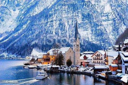 istock Hallstatt near Salzburg Austria in Europe 1132488035