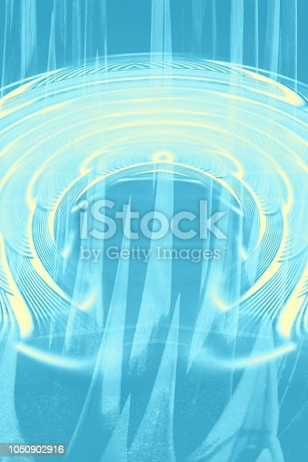 istock Hallucinogenic blue striped background. Accumulation of astral energy. 1050902916