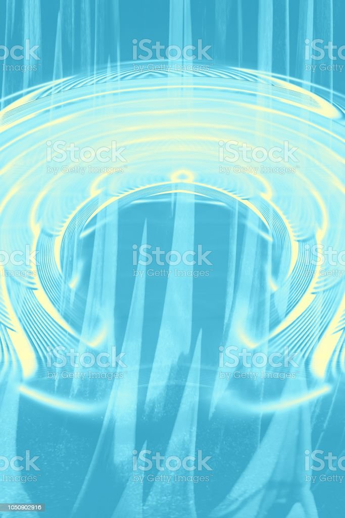 Hallucinogenic blue striped background. Accumulation of astral energy. stock photo