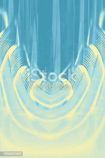 istock Hallucinogenic blue striped background. Accumulation of astral energy. 1050902932