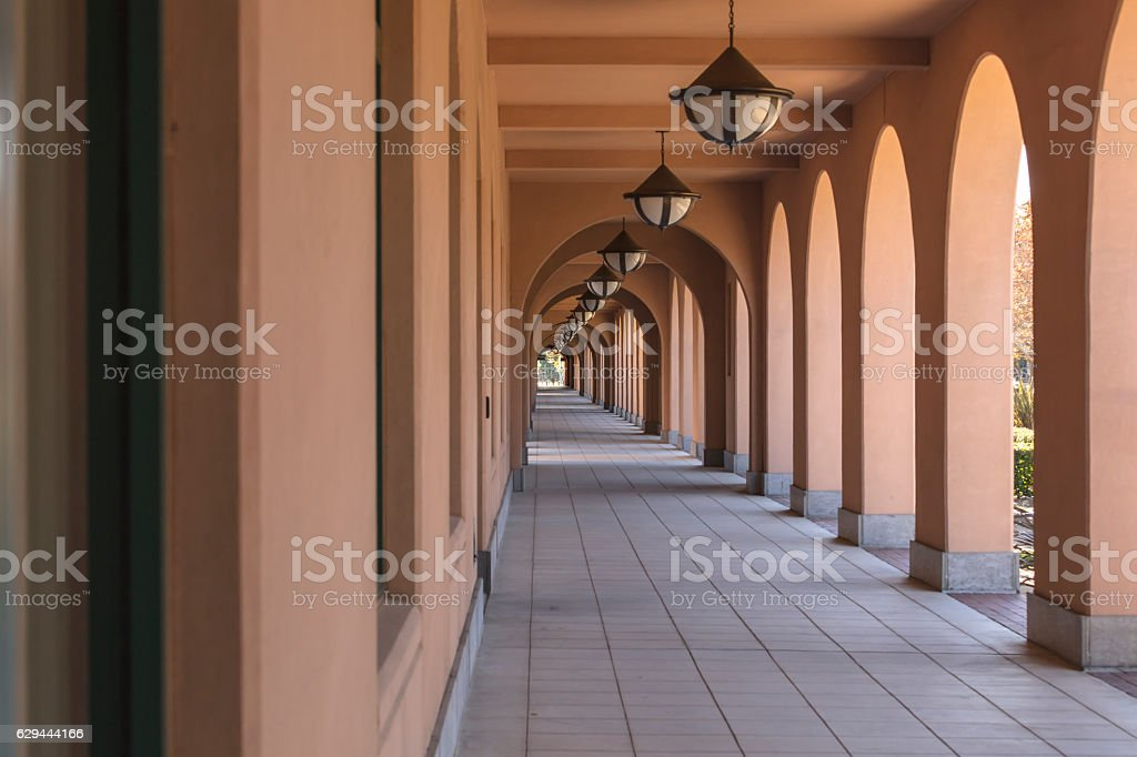 Hallway At Liberty Station Market Place in San Diego, California stock photo