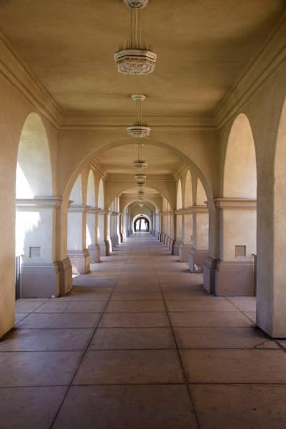 Hallway Balboa Park stock photo