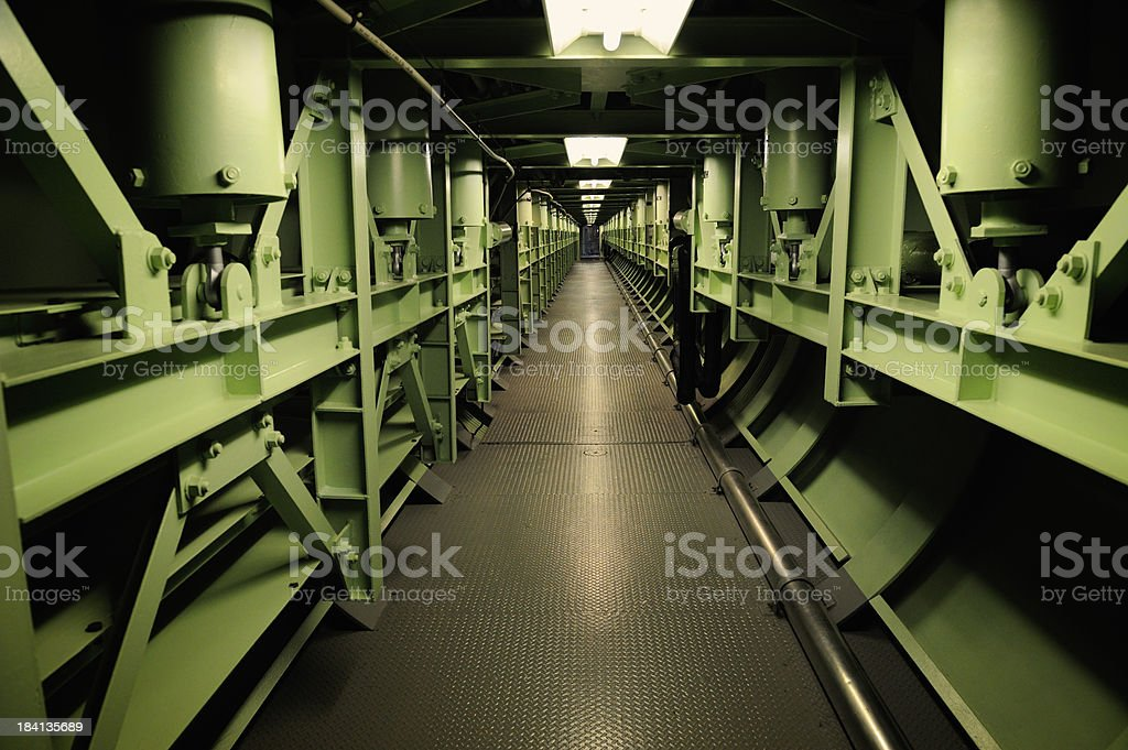 Hallway Leading To the Titan 2 Missile Base Control Center royalty-free stock photo