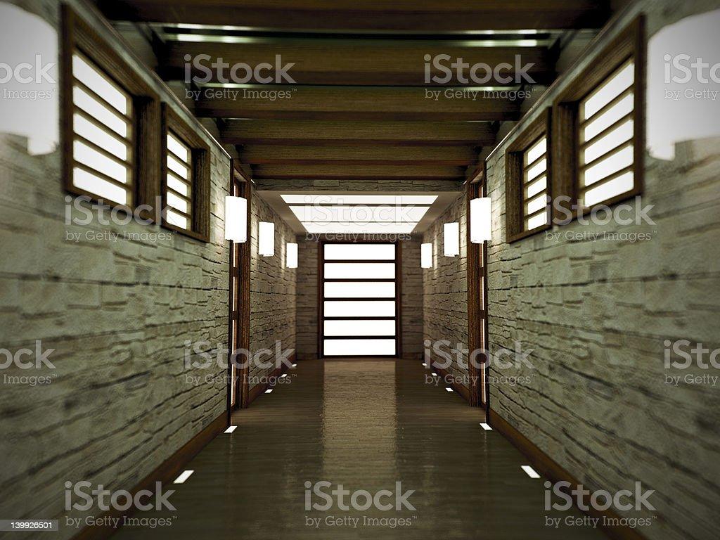 hallway royalty-free stock photo