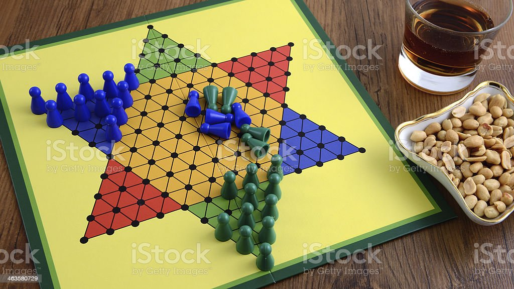 halma game board royalty-free stock photo