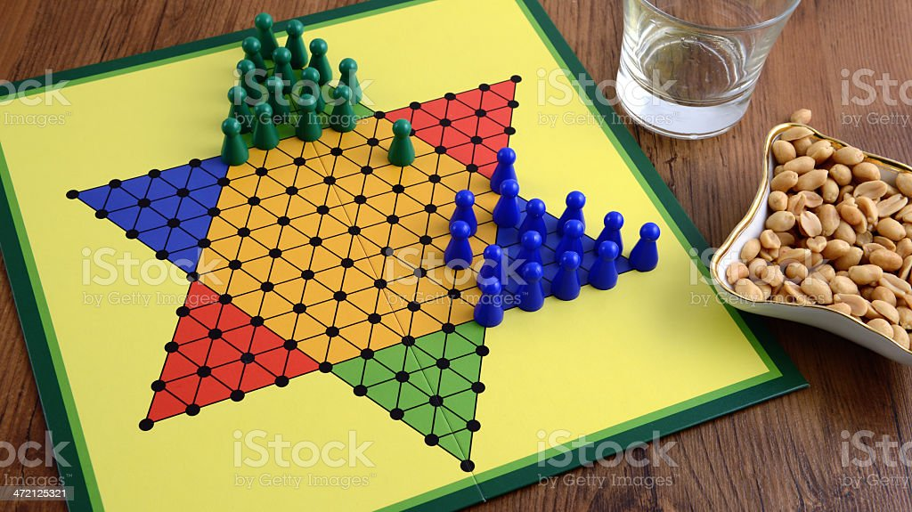 halma game board stock photo