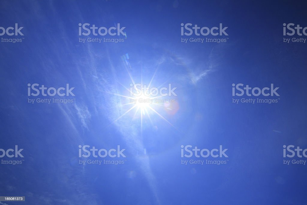 Halo effect in summer royalty-free stock photo