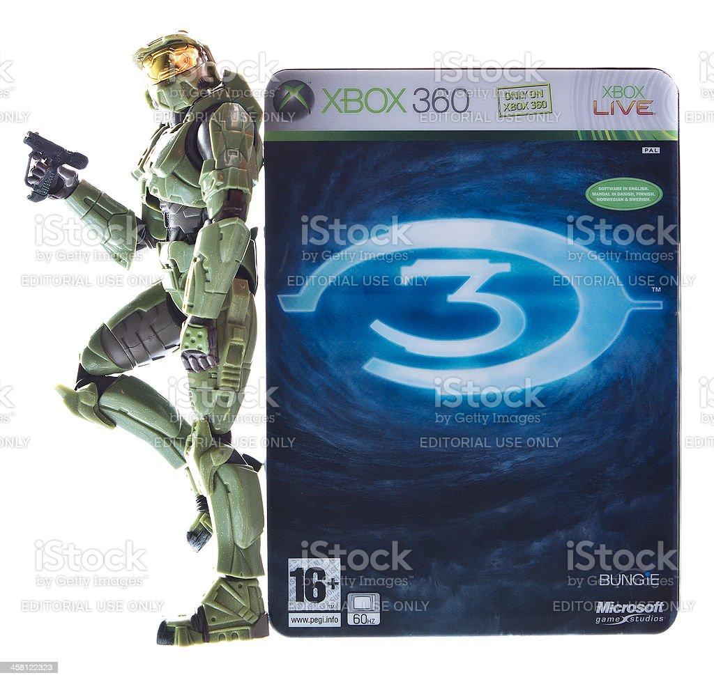 Halo Game and Figurine stock photo