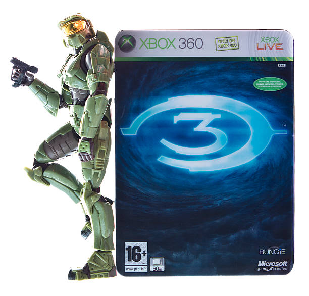 Halo Game and Figurine stock photo