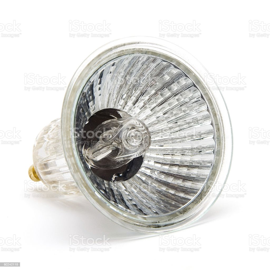 halogen bulb stock photo