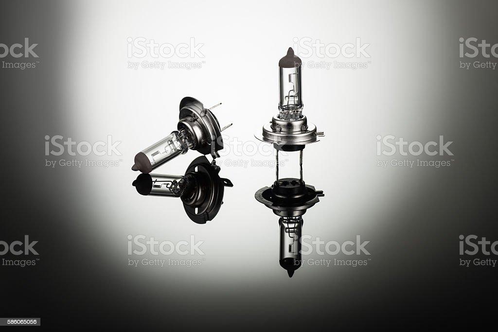 Halogen car headlight bulb H7 or H4 stock photo