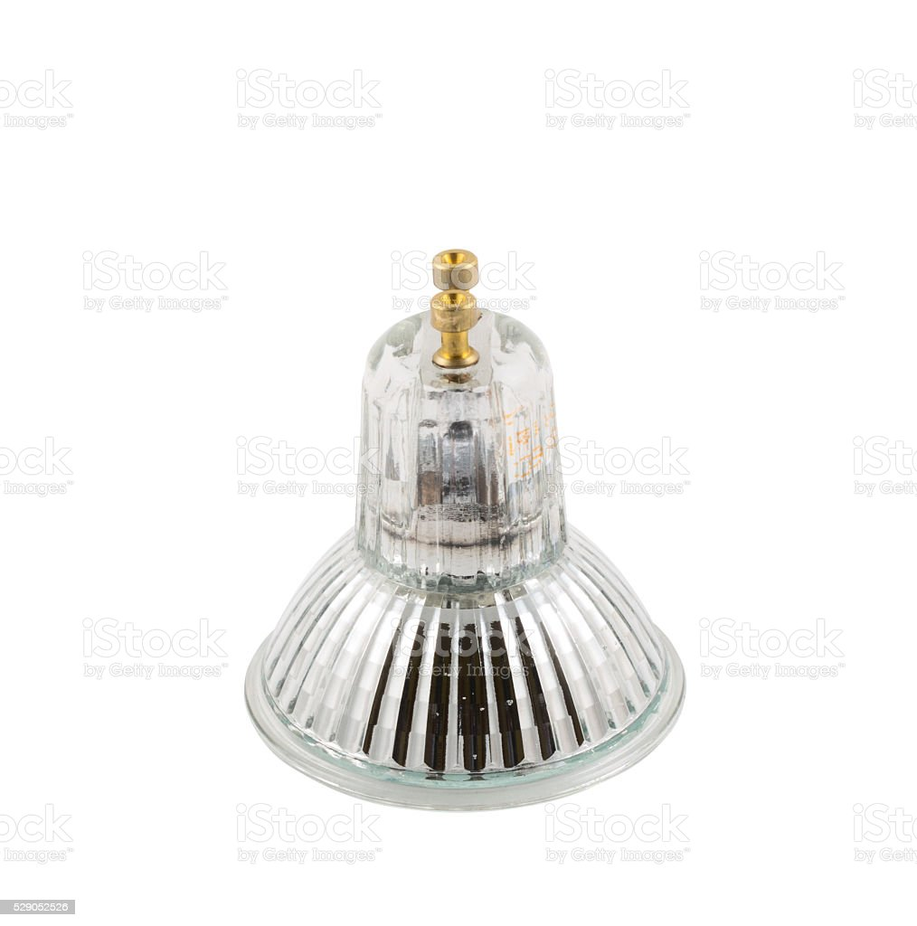 Halogen lamp isolated stock photo