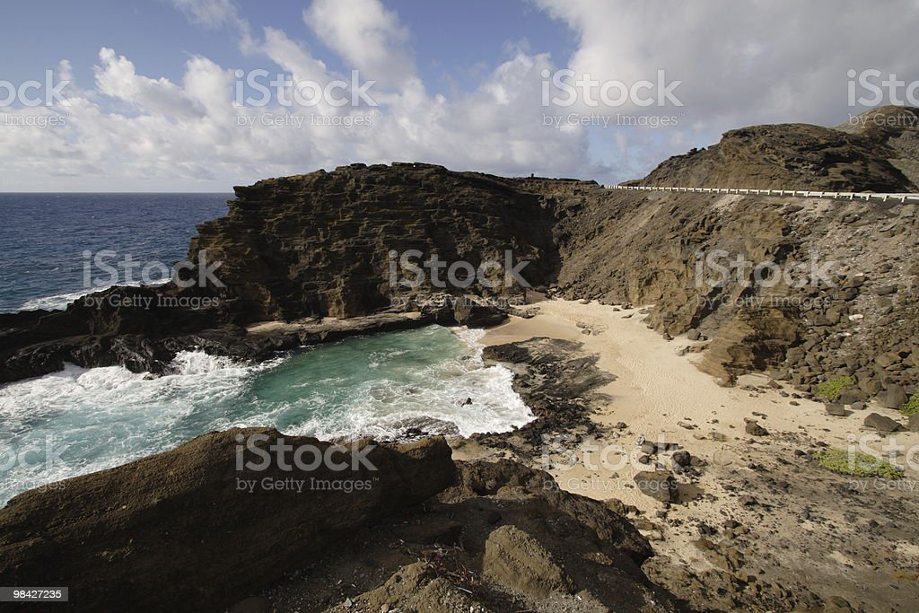 Halona Cove foto stock royalty-free