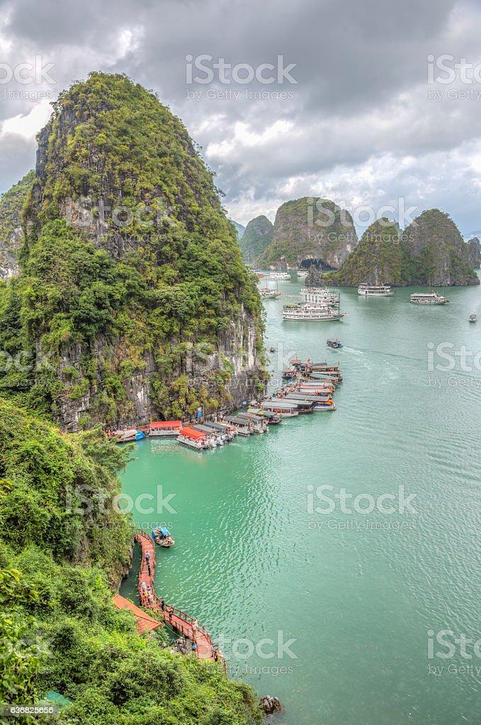 Halong Bay, Hanoi, Vietnam stock photo