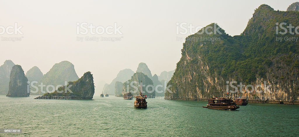Halong Bay Panorama royalty-free stock photo