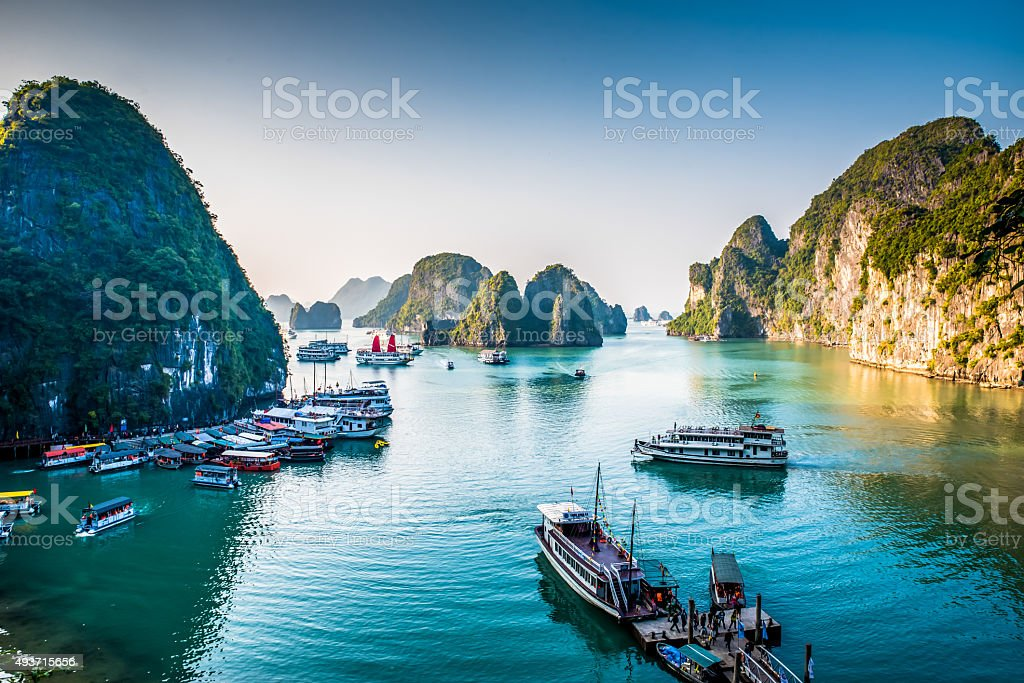 Halong Bay Vietnam stock photo